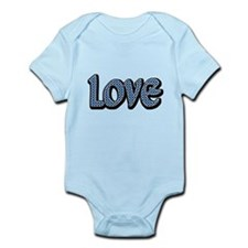 Light Blue Polkadot Love Body Suit