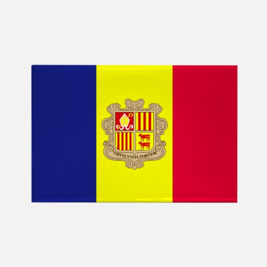 Flag Andorra Rectangle Magnet