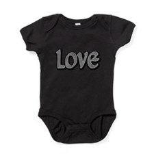 Houndstooth Small Love Baby Bodysuit