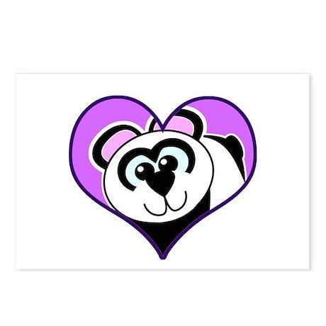 Cute Goofkins Panda Bear in Heart Postcards (Packa
