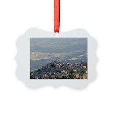 Morning View of Hill Townscibetta Ornament