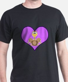 Cute Goofkins Ostrich in Heart T-Shirt