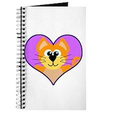 Cute Orange Cat in Heart Journal
