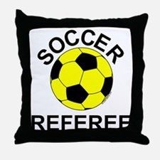 Soccer Referee Throw Pillow