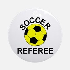 Soccer Referee Ornament (Round)
