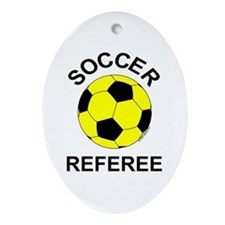 Soccer Referee Oval Ornament