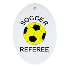 Soccer Referee Oval Ornament