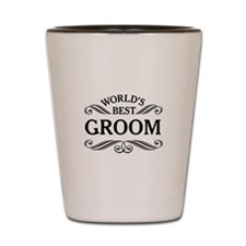 World's Best Groom Shot Glass
