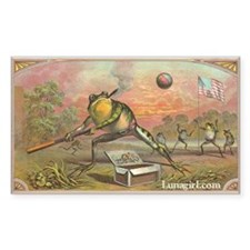 Vintage Frogs Baseball Rectangle Decal