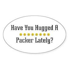 Hugged Packer Oval Decal