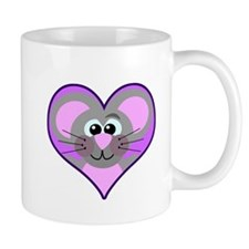 Cute Goofkins Mouse in Heart Mug