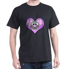 Cute Goofkins Mouse in Heart T-Shirt