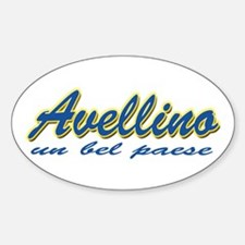 Avellino Italy Oval Decal