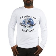 Mini Schnauzer World2 Long Sleeve T-Shirt