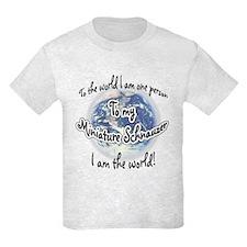 Mini Schnauzer World2 T-Shirt
