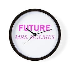 Future Mrs. Holmes Wall Clock