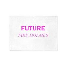 Future Mrs. Holmes 5'x7'Area Rug