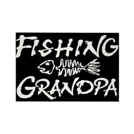 Fishing Grandpa Rectangle Magnet (10 pack)