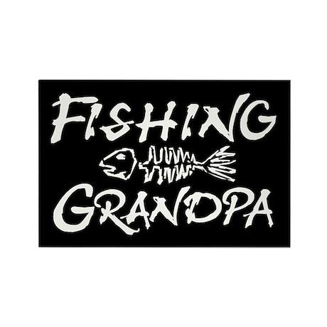 Fishing Grandpa Rectangle Magnet