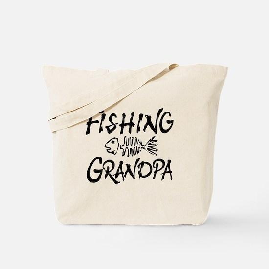 Fishing Grandpa Tote Bag
