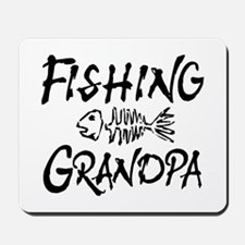 Fishing Grandpa Mousepad