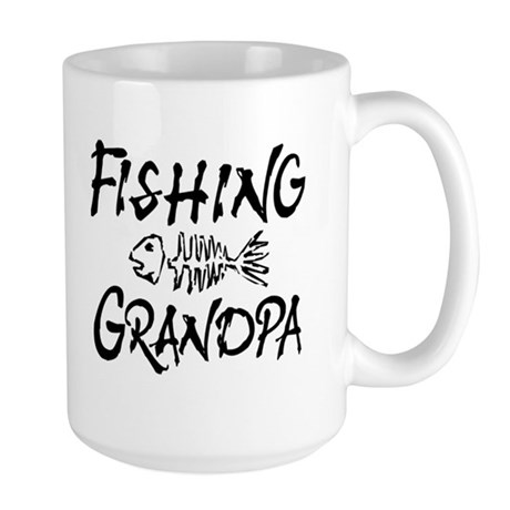 Fishing Grandpa Large Mug