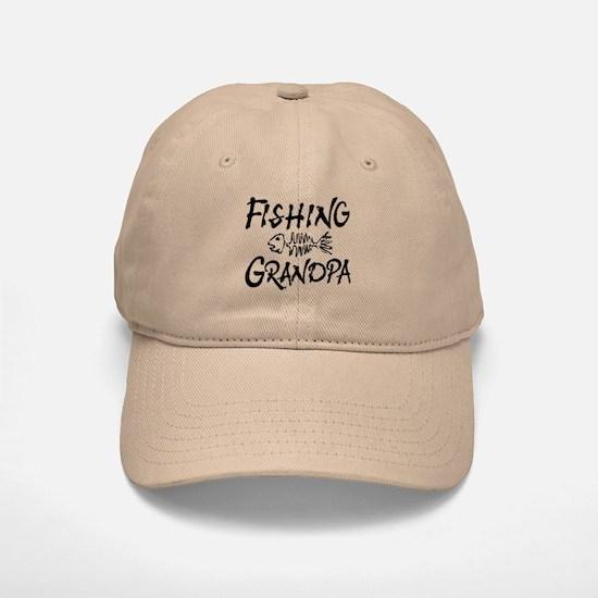 Fishing Grandpa Baseball Baseball Cap