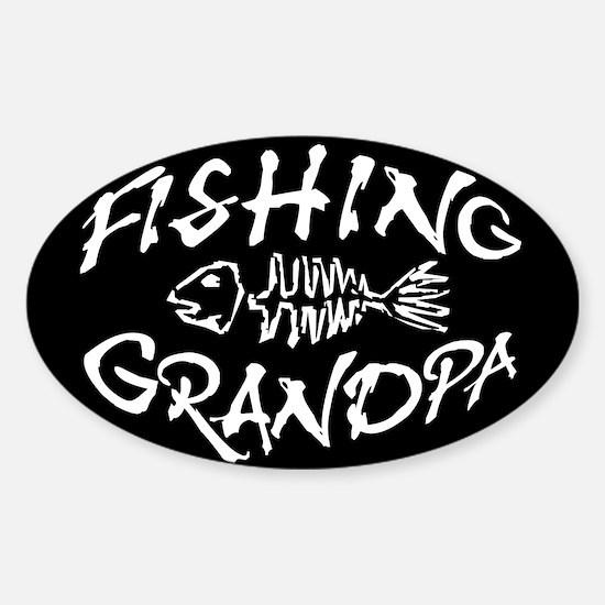 Fishing Grandpa Oval Decal