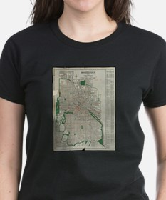 Vintage Map of Minneapolis Minnesota (1921 T-Shirt