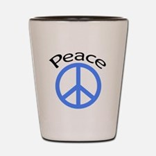 light blue peace symbol with word.PNG Shot Glass