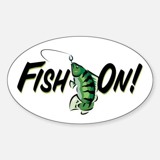 Fish-On! Oval Decal