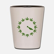 Weed Clock Shot Glass