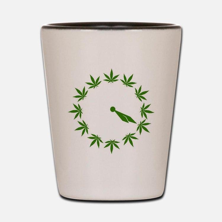 Weed Clock Shot Glass