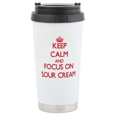 Cute I love sour cream Travel Mug