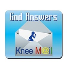 God Answers Knee Mail Mousepad