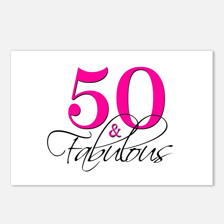 50 Abd Fabulou: 50 And Fabulous Post Card