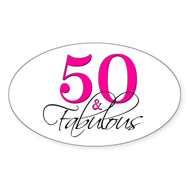 50 Abd Fabulou: 50 And Fabulous Pink Black Decal By Printcreekstudio
