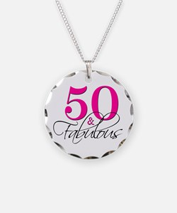 50 and Fabulous Pink Black Necklace