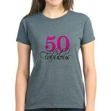 50 and fabulous Women's Dark T-Shirt