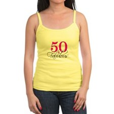 50 and Fabulous Pink Black Tank Top