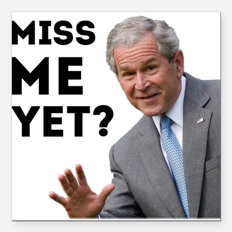 "Miss Me Yet? Anti Obama Square Car Magnet 3"" x 3"""