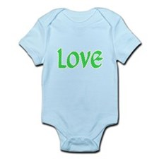 Lime & White Star Love Body Suit