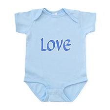 Light Blue & White Love Body Suit