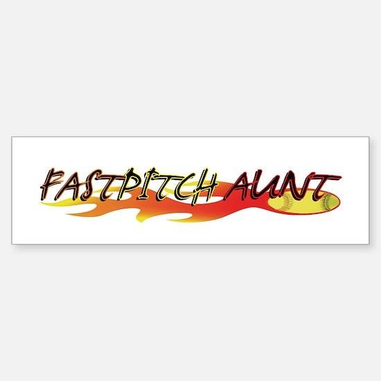 Fastpitch Aunt Bumper Car Car Sticker