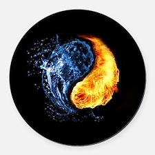 Elemental Yin Yang Round Car Magnet