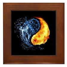 Elemental Yin Yang Framed Tile