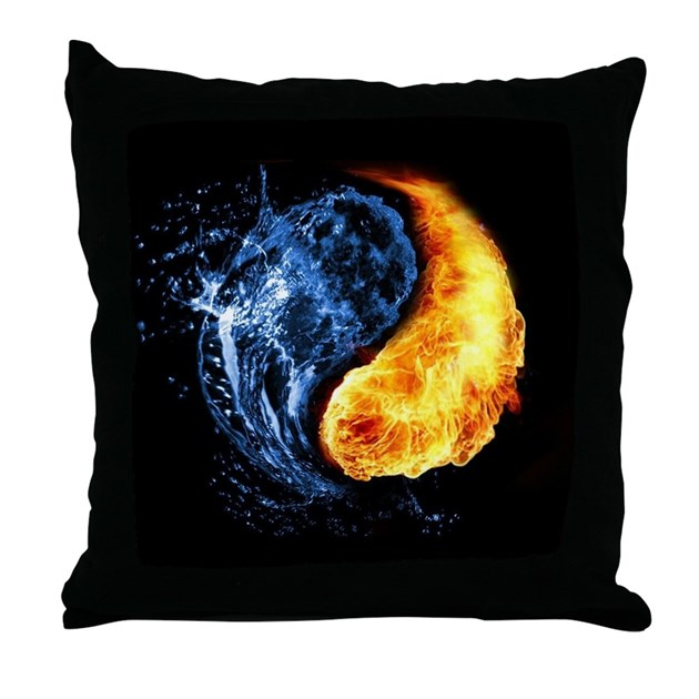 elemental yin yang throw pillow by coolbedding. Black Bedroom Furniture Sets. Home Design Ideas