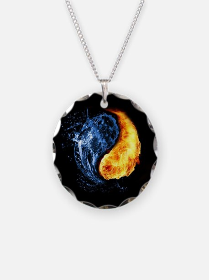 Elemental Yin Yang Necklace