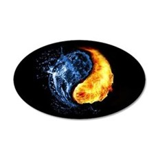 Elemental Yin Yang Wall Decal