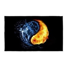 Elemental Yin Yang 3'x5' Area Rug
